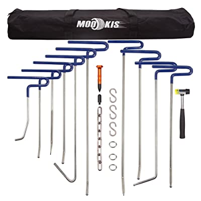 Mookis Dent Removal Rods Set Paintless Dent Repair Tools for Car Dent Remover Puller Hail Damage Repair Kit (B2-B11): Automotive