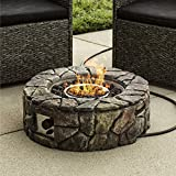 Best Choice Products Home Outdoor Patio Natural Stone Gas Fire Pit for Backyard, Garden – Multicolor