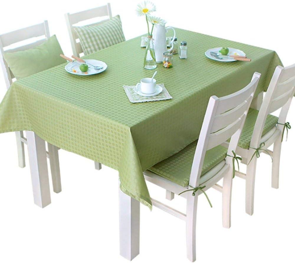 SED Mantelería del Restaurante del hogar Manteles, paño Manteles Anti-oxidantes a Prueba de Agua Manteles Desechables Mantel de café Rectangular Simple (Verde) para la Cena Estera de Mesa de Picnic