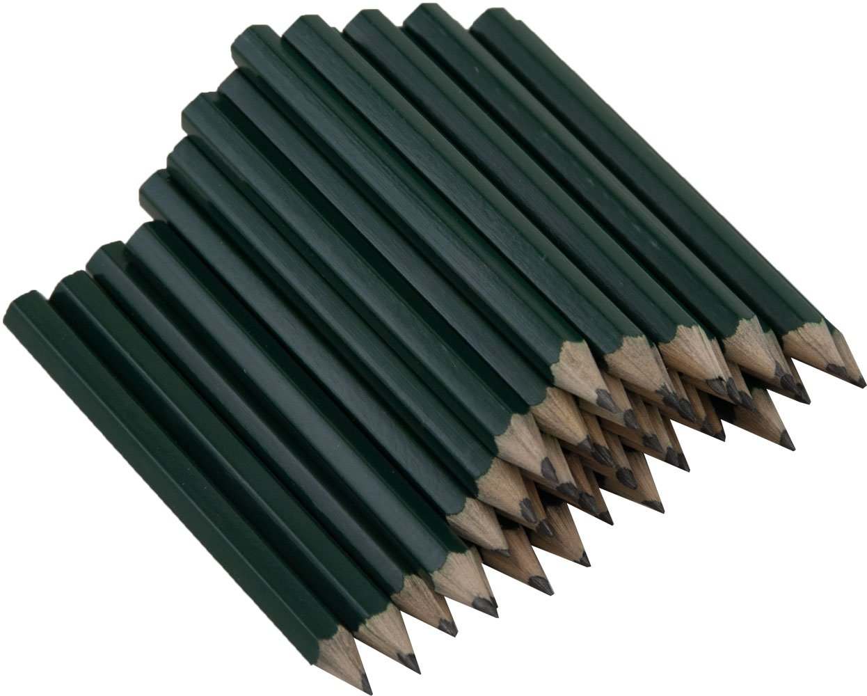 Mitad Pencils Sharpened hexagonal (no Borrador) (lápices ...