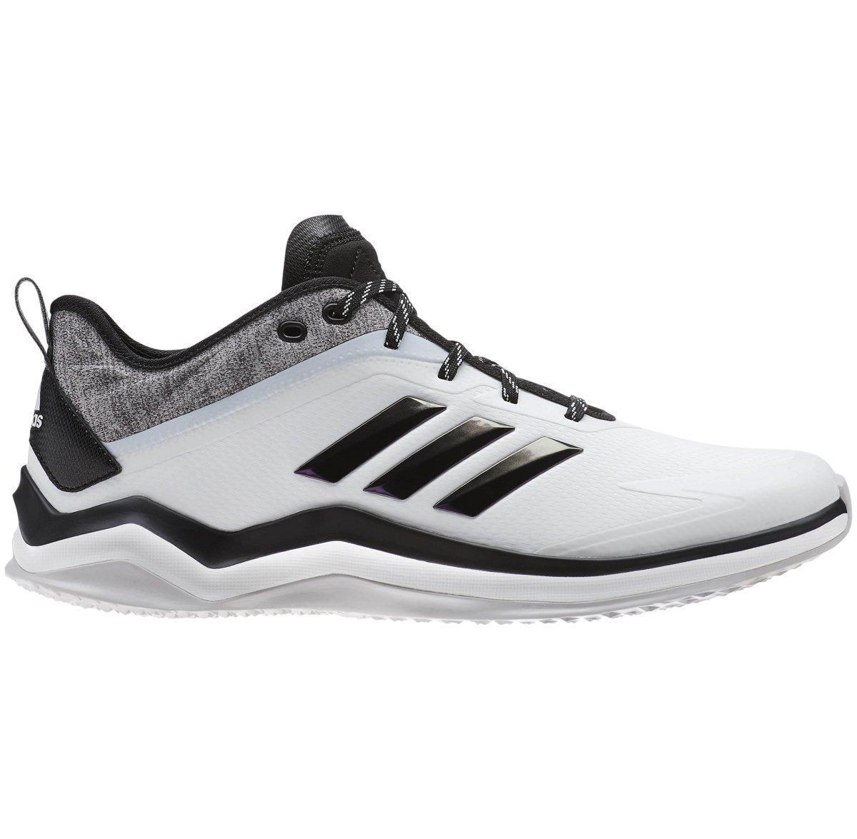 adidas Men's Speed Trainer 4 Baseball Shoe B077X4RCNF 4.5 D(M) US|Crystal White/Black/Carbon 1765