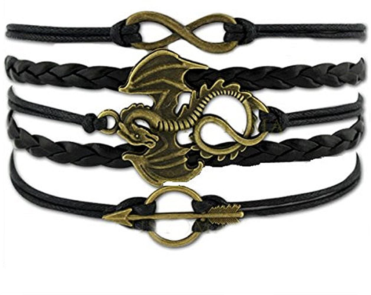 Game of Thrones bracelet song of ice and fire  bronze dragon
