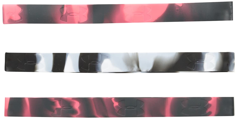 Under Armour レディース マーブルシリコンヘッドバンド (3個パック) One Size ブラック/ホワイト B00HRIP2ZQ