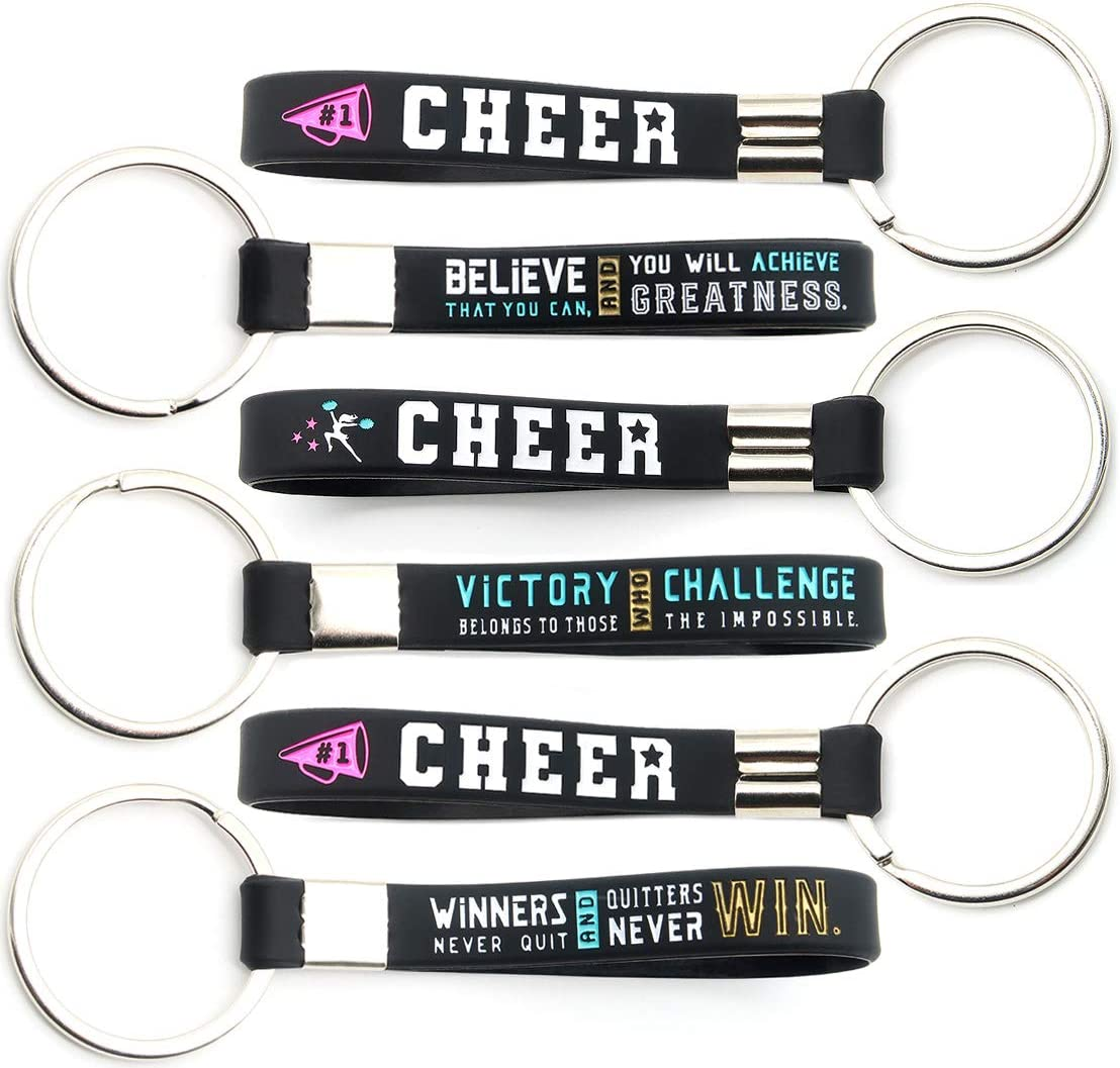 really cute keychains CHEER-PURPLE Key Fobs