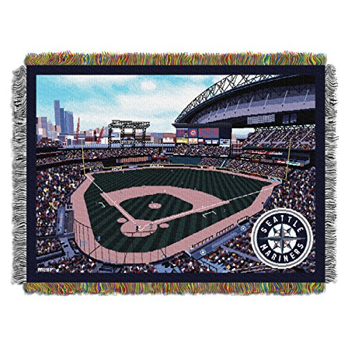 MLB Seattle Mariners 48-Inch-by-60-Inch Acrylic Tapestry Throw