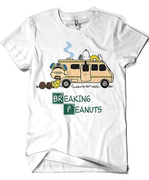 1174-Camiseta Breaking Bad - Breaking Peanuts (Melonseta): Amazon.es: Ropa y accesorios