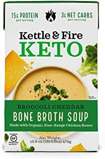 product image for KETTLE & FIRE Broccoli Cheddar Bone Broth Soup, 16.9 OZ