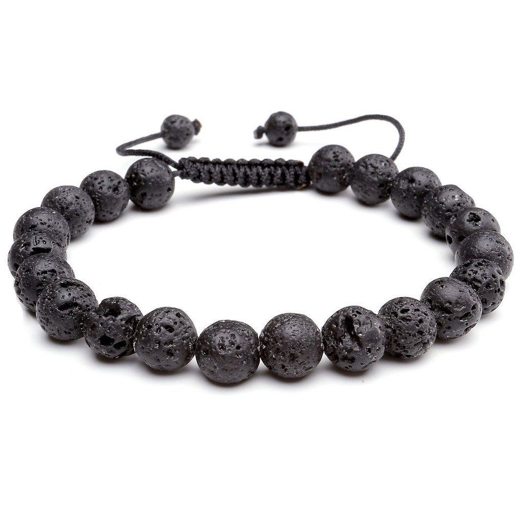 JOVIVI 8MM Birthstone Gemstones Healing Power Crystal Macrame Adjustable Beaded Bracelet, Unisex AJ1010105741