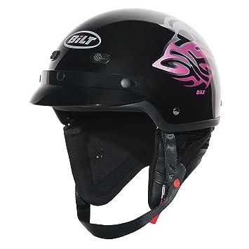 Amazon.com: CUSTOM BILT Raven - Casco de moto para mujer, XS ...