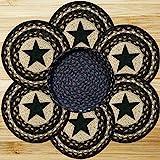 10in. x 10in. Black Star Trivets in a Basket