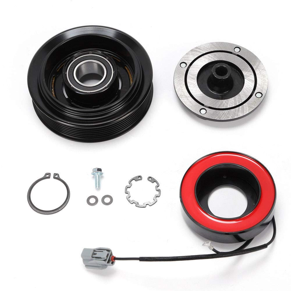 A/C Compressor Clutch Kit Pulley Bearing Coil Front Plate Fit For Honda Accord 03-07 US