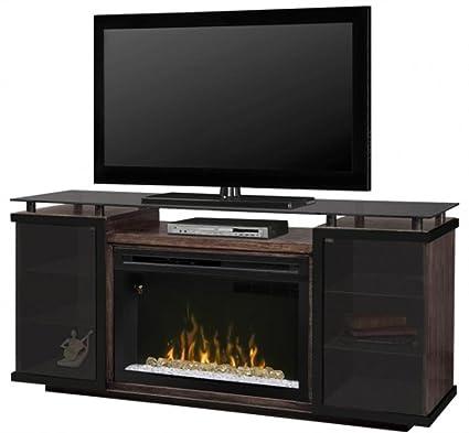 amazon com dimplex aiden electric fireplace tv stand with acrylic rh amazon com dimplex novara tv stand with electric fireplace Fireplace TV Stands From Walmart