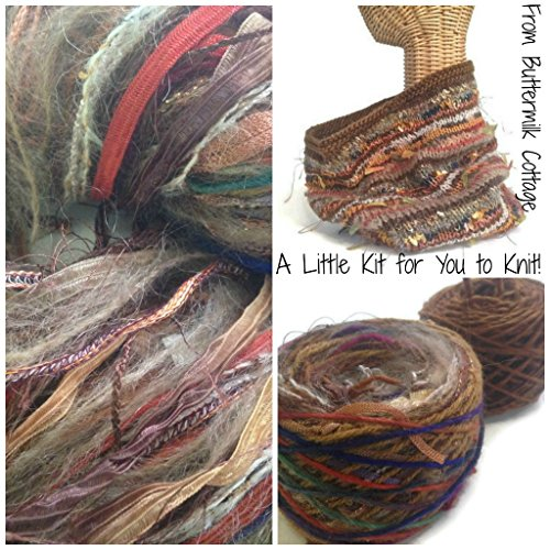 Boutique Yarn Cowl Knitting Kit Brown
