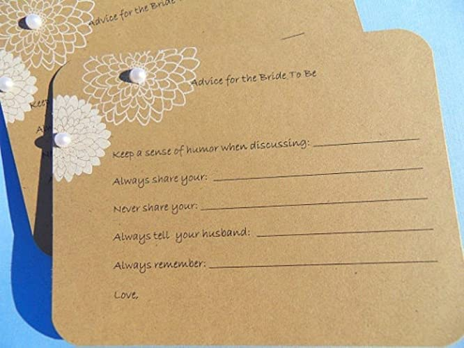 advice for the bride to be card bridal shower wish cards