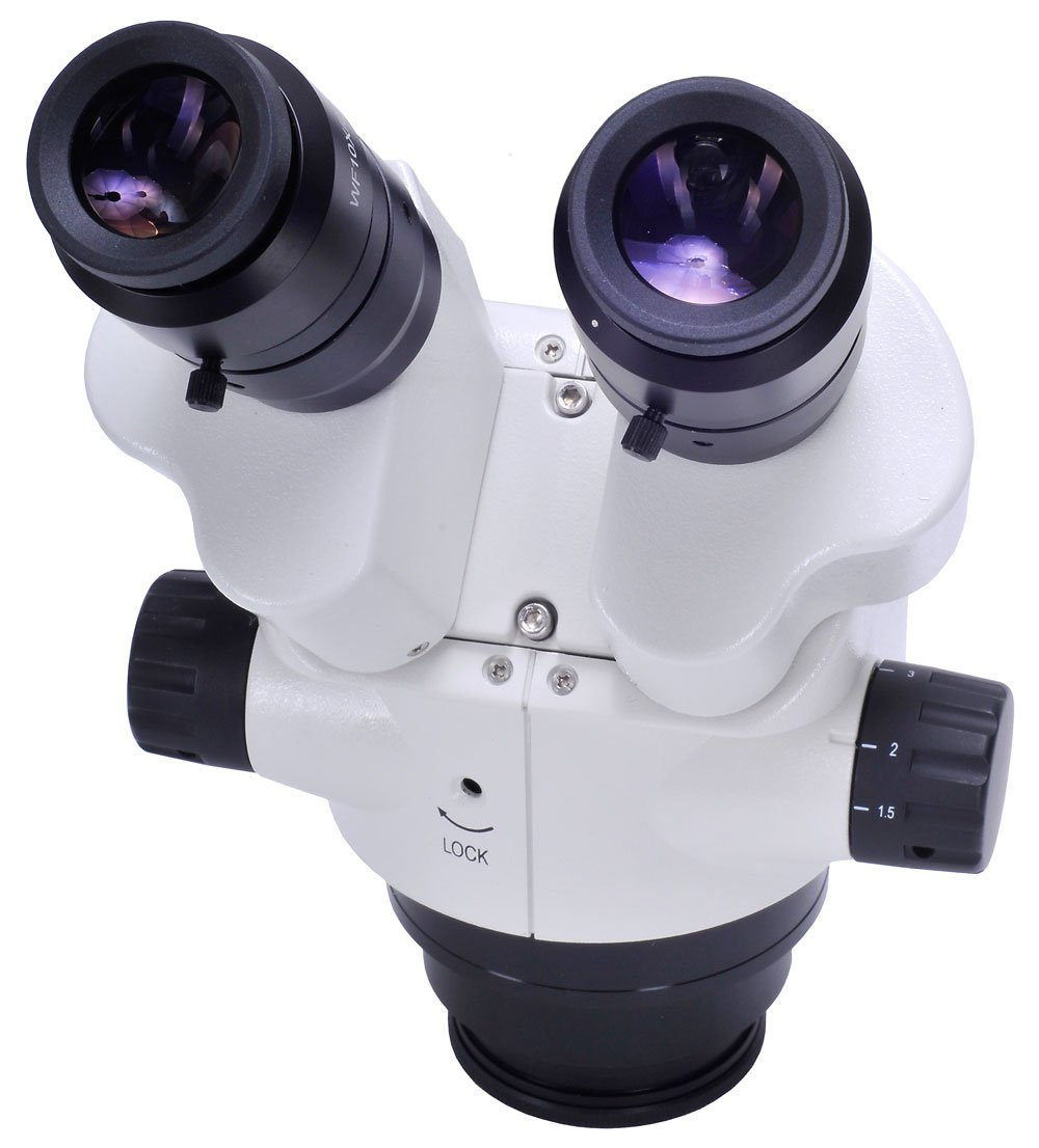 Omano OM2300S-V7 - 7.5X-45X - Binocular - Zoom Stereo Inspection Microscope - Articulating Boom Stand - 80 LED Rng Light by Omano