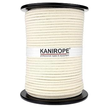 100/% Coton Tressé Corde Blanc Jardin Rouleau Sac Poignée laisse plomb naturel
