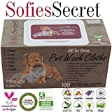 SofiesSecret Pet Wipes for Dogs+Cats ALL IN...