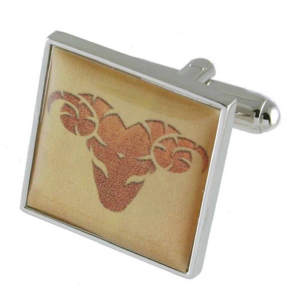 Taurus Star Sign Cufflinks Select Gift Pouch