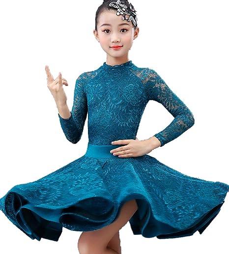 Girls Ballet Dance Sequin Crop Top+Tutu Tassels Skirt Dress Dancewear Costume UK