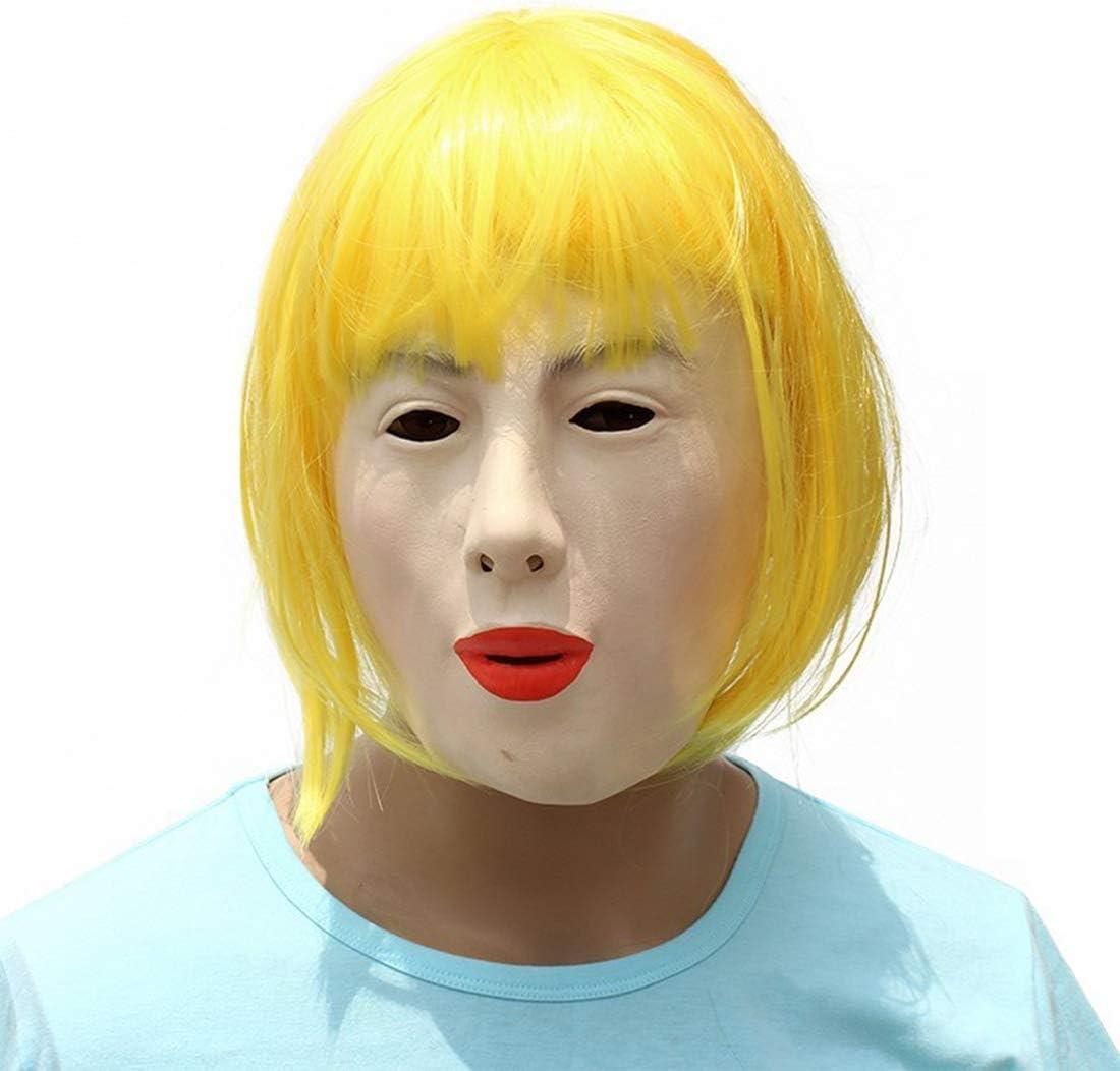 Campanas de látex de Las Mujeres Máscara con Pelo Halloween Cosplay Peluca de Halloween Látex Adulto Máscara de Carnaval Fiesta Fiesta apoyos de la Foto: Amazon.es: Hogar