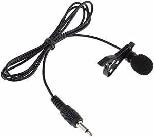 "EXMAX Pro Black Micro Mini lavalier Lapel Tie Clip-on 1/8""(3.5mm) Jack Condenser Collar Microphone for Belt Pack Mic System,Voice Amplifier,Teachers, Speakers,Coaches,Presentations,Tour Guides"