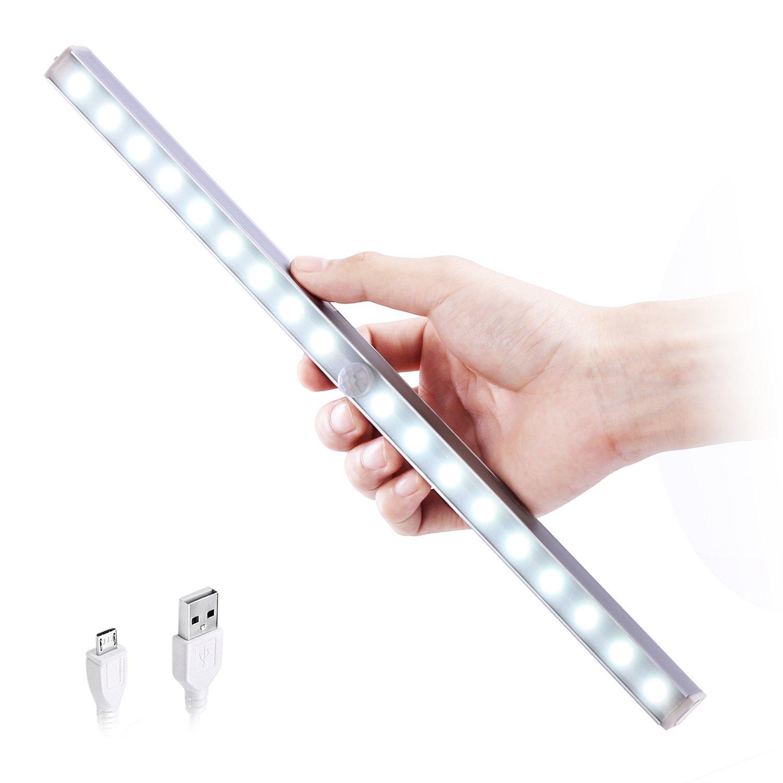 HogarTech Làmpara del Armario LEDs Recargable Modos de Luz Barra de Luz