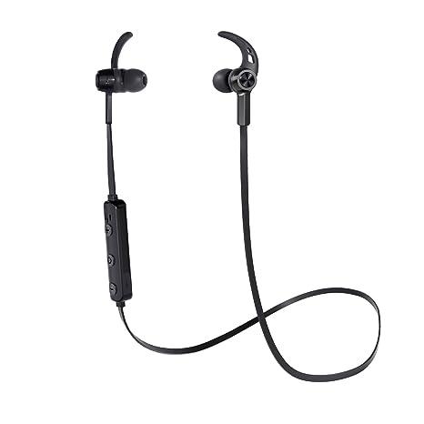 AUKEY Cuffie Bluetooth Wireless Sport Auricolare Magnetiche Metallico  Stereo con Microfono 00e90f498b49
