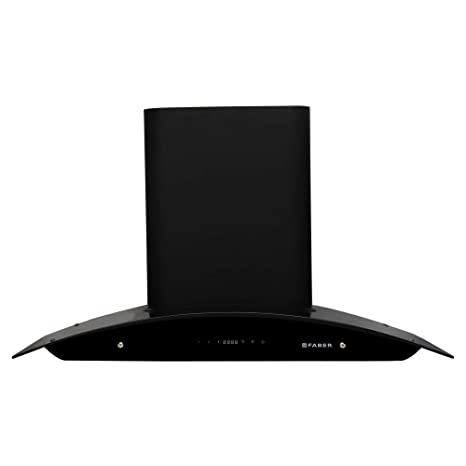 Faber 90 Cm 1500 M3/Hr Heat Auto Clean Chimney (Hood Primus Energy Tc Hc Bk 90, 2 Baffle Filters, Touch Control, Black)