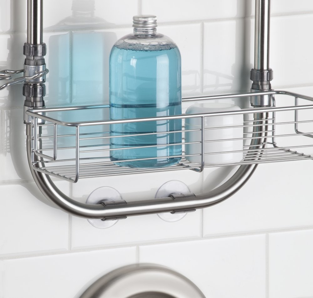 Amazon.com: mDesign Bathroom Shower Caddy for Shampoo, Conditioner ...