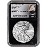2016 (W) American Silver Eagle (1 oz) Early Releases 30th Anniversary Label Retro $1 MS69 NGC
