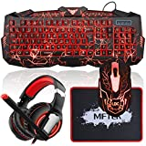 Best Sony Mechanical Keyboards - MFTEK Backlit Gaming Keyboard Mouse Combo with LED Review