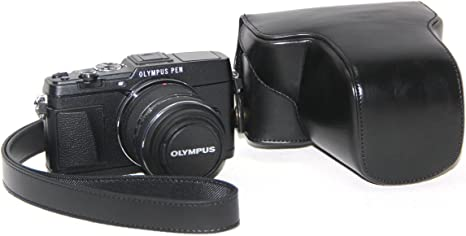 "MegaGear /""Ever Ready/"" Leather Camera Case for Olympus OM-D E-M1 Mark II"