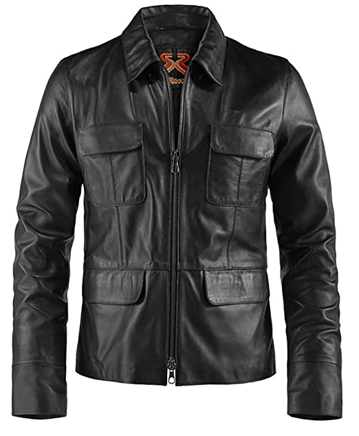 6420587e24f9 Soul Revolver Damon Salvatore Leather Jacket Vampire Diaries - Black - XL