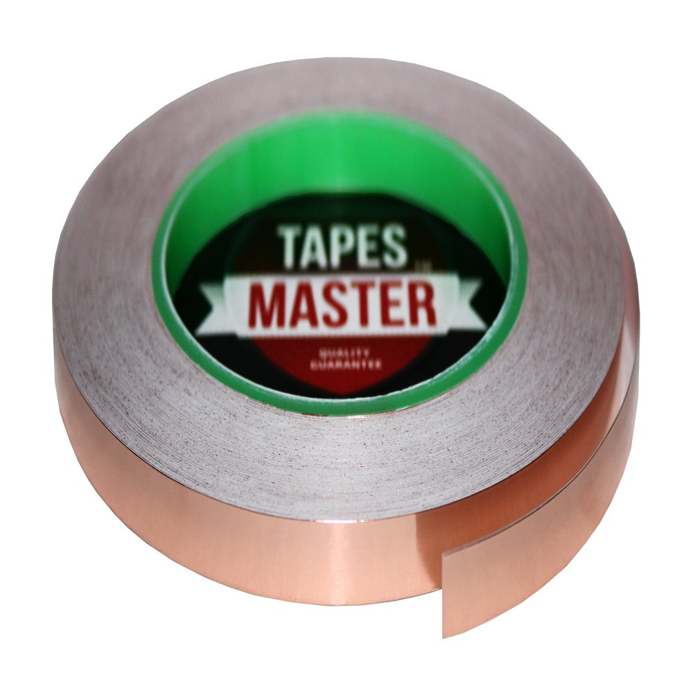 Tapes Master 3/8'' x 36 Yds (10mmx33m) Copper Foil Tape - EMI Shielding Conductive Adhesive tape