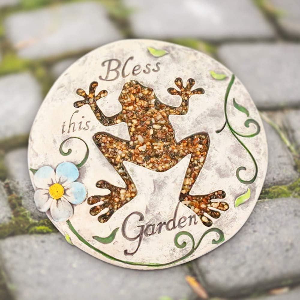 Frosch Kailya Kreativ Zement Runden Garten Trittstein Karikatur Tier Muster zum Zuhause