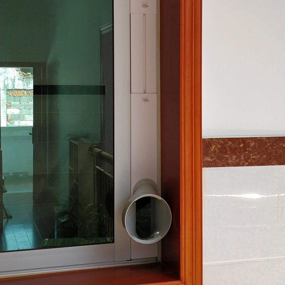 2 Fensterscheiben Fensteradapter Rohrverbinder//Fensterdichtungs Satzplatte f/ür Mobile Klimager/äte /& W/ärme Pumpenleitungssatz Abdecksatz AC Entl/üftungs Auslassschlauch Rohrabzugsverbinder