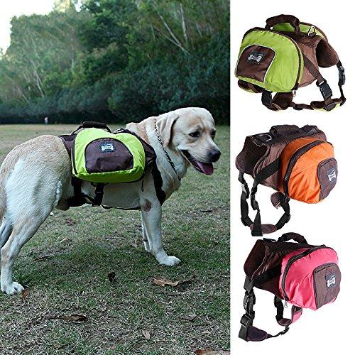 Pettom Waterproof fold able Dog Backpack Day Pack Adjustable Saddle bag Pocket Tripper Hound Bag for Pet Travel Hiking Camping Walking