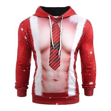 873380cc81769 AIMEE7 Sweats à Capuche Homme Grande Taille Vêtements Noël Pull Manche  Longue Sweat-Shirt Imprimé 3D T-Shirt Haut Casual Tops à Capuche Automne  Hiver ...