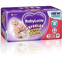 BabyLove Wriggler Nappy Pants 7-11kg (34 pack x 2, 68 Total) + 4 Bonus Pieces per Pack