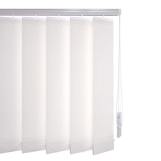 Liedeco Vertikalanlage Lamellenanlage Lamellenvorhang Vertikaljalousie   Lamellenbreite 89 mm   Höhe 180 cm, oder 250 cm   kü