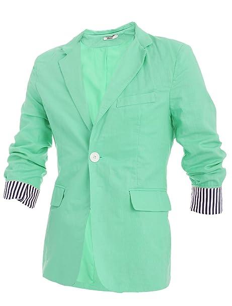 Hombre - Ocio Lino Blazer chaqueta verde claro 29 : Amazon.es: Ropa y accesorios