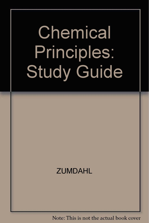 Chemical Principles 3rd Ed. Study Guide, pb, 98: Steven S. Zumdahl:  9780395839966: Amazon.com: Books