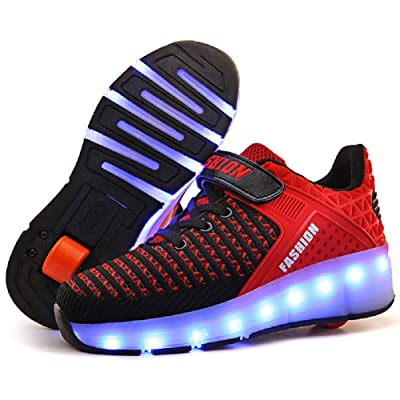 Nsasy Roller Shoes Kids Roller Skates Shoes Girls Boys Wheels Shoes Become Sport Sneaker with Led for Children Gift | Sneakers
