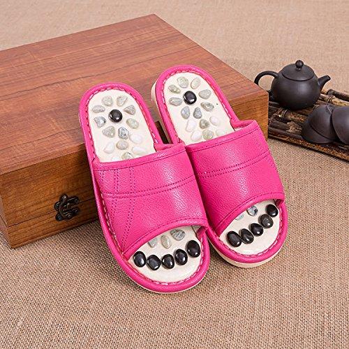 Salud Pie Sandalias Pink Jade Zapatos Masaje Natural Pies De Pie Para 38 Guijarros Zapatillas 39 Zapatillas Pink Plantar 41 Parejas 40 Point AyfBqq