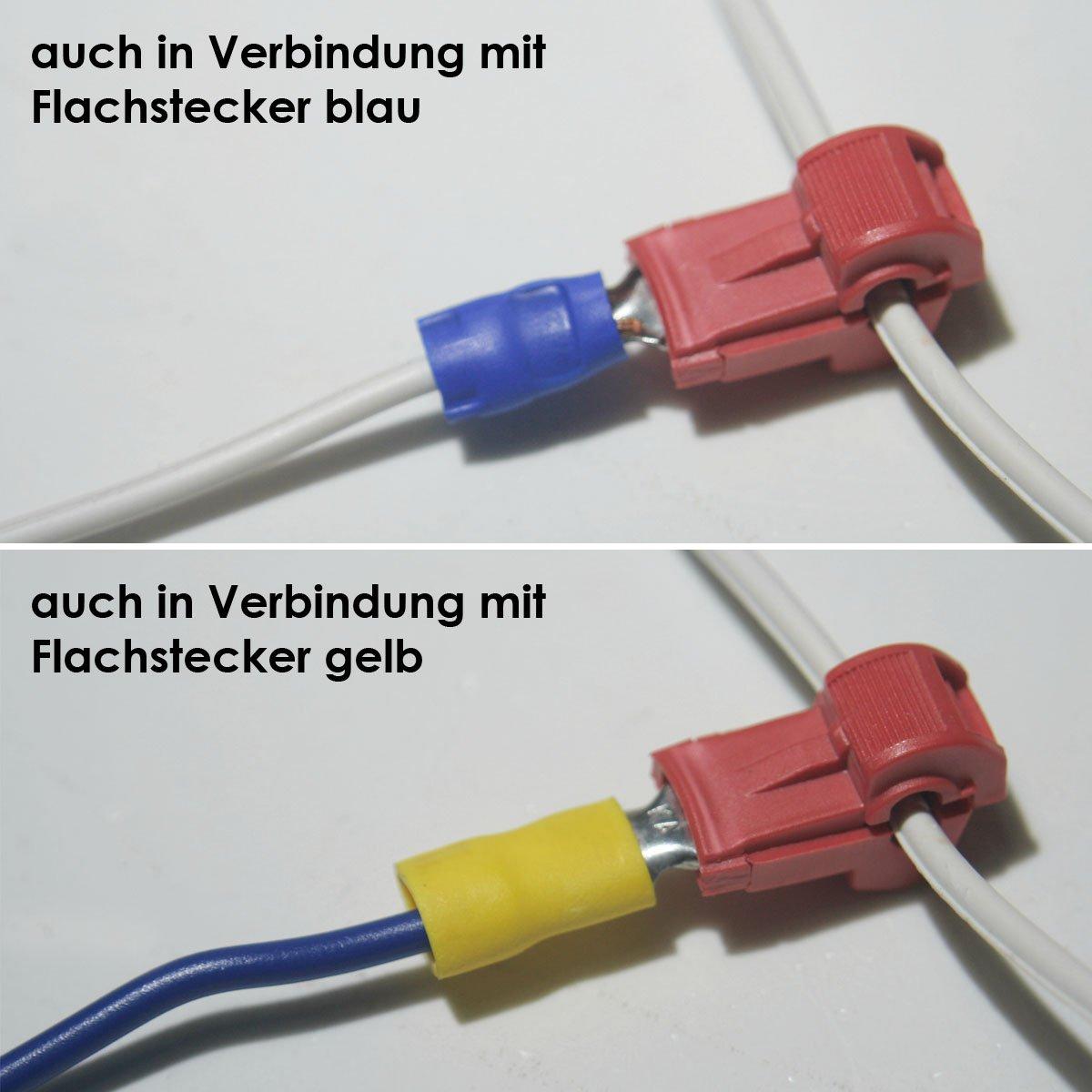 Unterschiedlich 10 Abzweigverbinder für Kabelschuhe ROT: Amazon.de: Elektronik SY18
