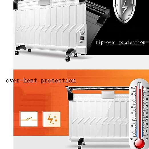 Heater GJM Shop Ultrafino Calentador De Radiador De Aceite 2200W Sobrecalentar & Protección contra Volcaduras con Tendederos Caja De Humidificación ...