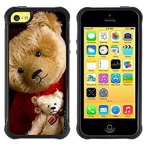 SHIMIN CAO@ Teddy Bear Stuffed Animal Toy Child Cute Rugged Hybrid Armor Slim Protection Case Cover Shell For iphone 5C CASE Cover ,iphone 5C case,iphone5C cover ,Cases for iphone 5C