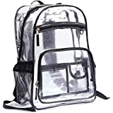 VORCOOL Clear PVC Backpack Transparent See Thru School Backpack Outdoor Bookbag Travel Makeup Pouch Organizer