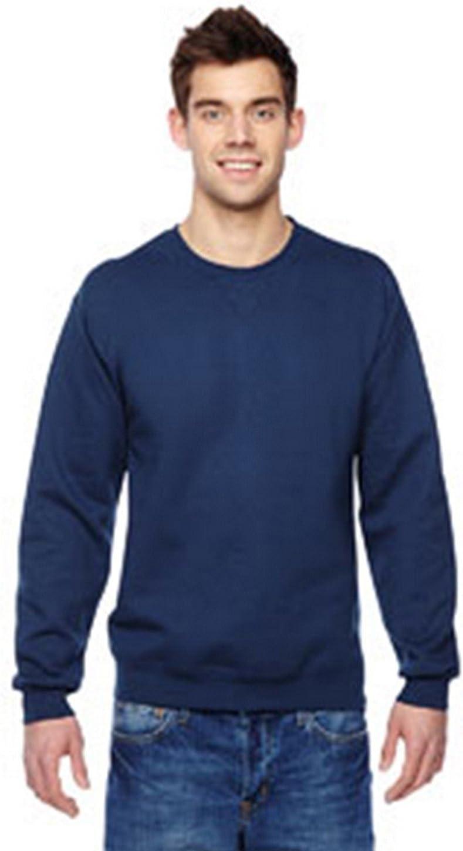Fruit of the Loom mens 7.2 oz. Sofspun Crewneck Sweatshirt(SF72R)-J NAVY-XL