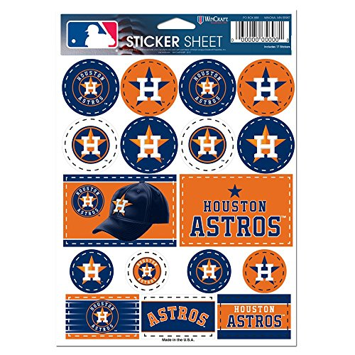 Houston Astros Stickers (MLB Houston Astros Vinyl Sticker Sheet, 5